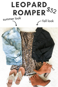 How to Wear a Leopard Romper From Summer to Fall
