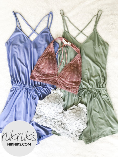 sleeveless lounge rompers