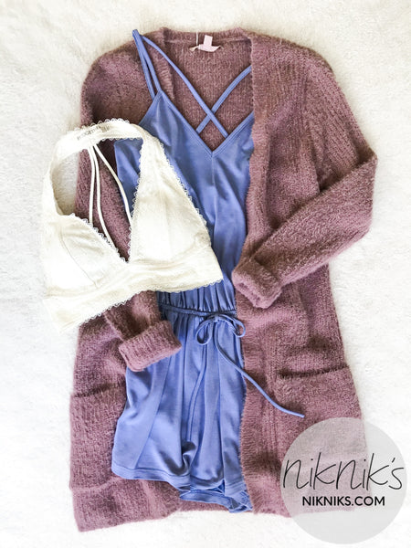 cute romper and cardigan outfits