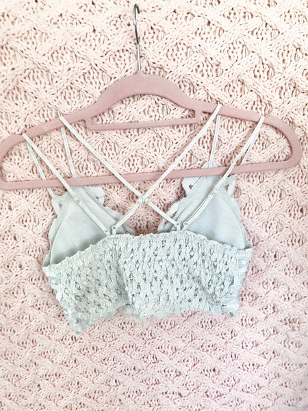 gray lace bralette