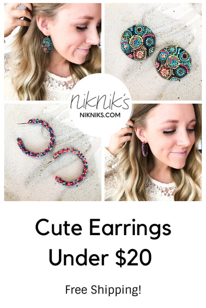 cute affordable earrings