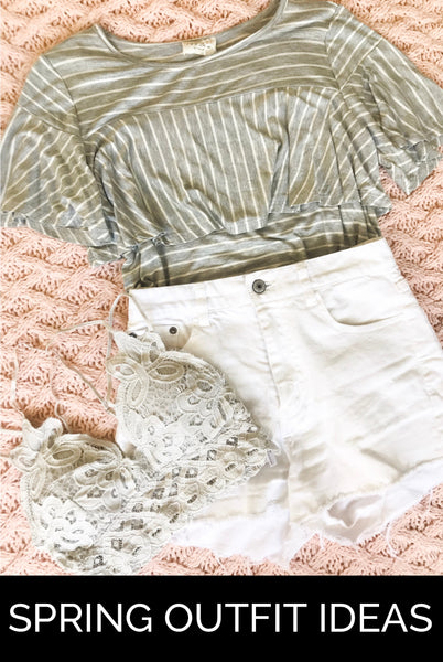 white shorts outfit