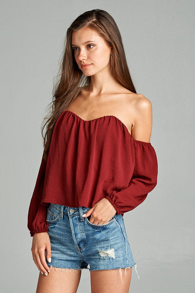 off shoulder tops for fall