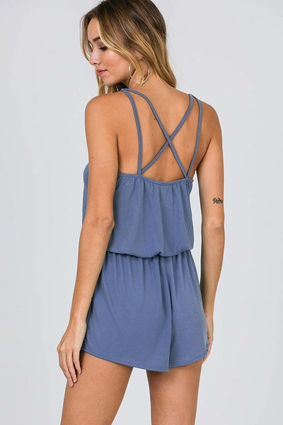 blue lounge romper