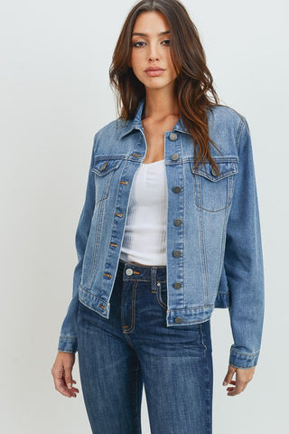 Basic Medium Wash Denim Jacket