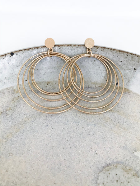 Gold Layered Hoop Earrings - NIKNIK'S BOUTIQUE