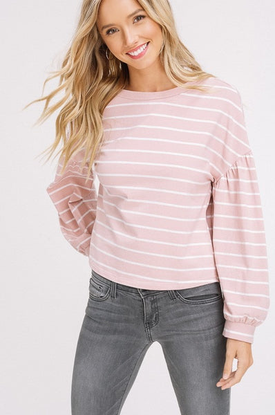 light pink long sleeve tops