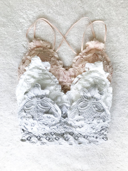 Adjustable Padded Lace Bralette