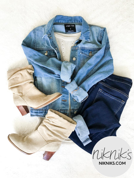 cute casual denim jacket outfits for fall
