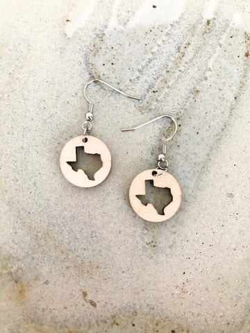 Wooden Texas Earrings - NIKNIK'S BOUTIQUE