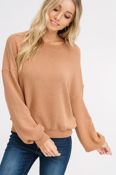 bubble sleeve fall tops