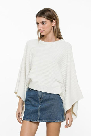 Ivory Cropped Knit Sweater