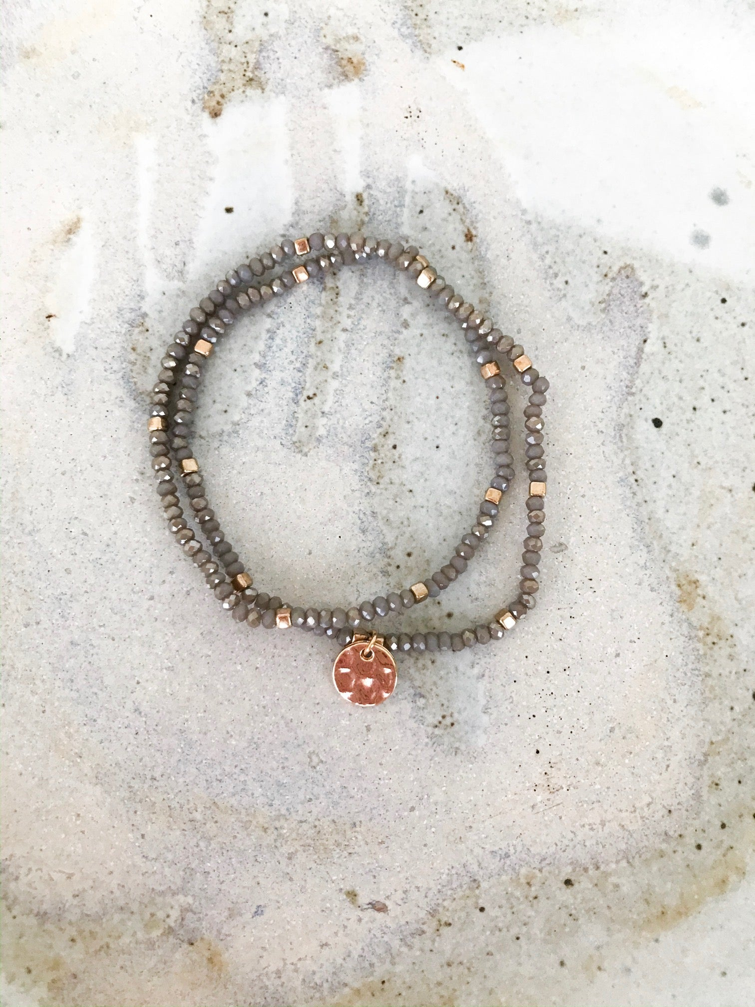 Grey Beaded Wrap Bracelet or Necklace - NIKNIK'S BOUTIQUE