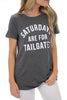 gameday semi fitted t-shirt - saturdays are for tailgates- charcoal grey