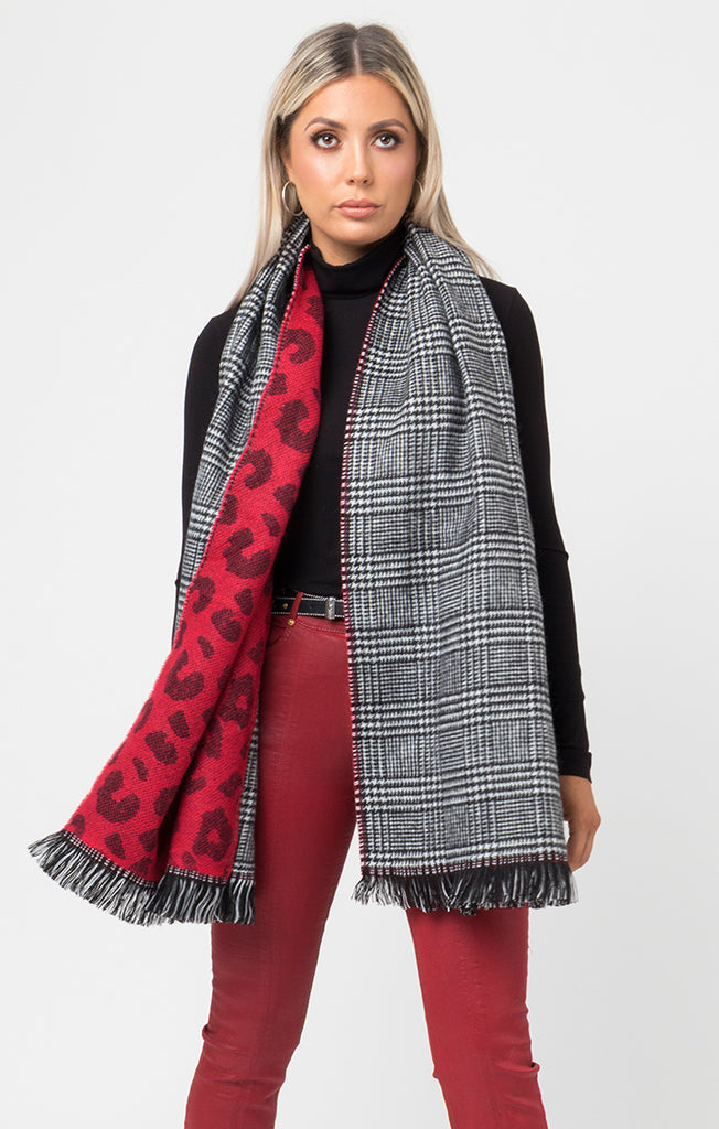 Briar Scarf – Black/Red-Scarf-Mermaid Cove