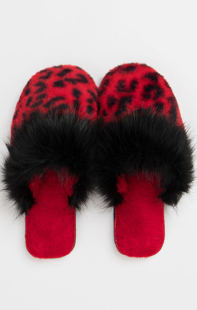 Felix Slippers – Red Leopard-Slippers-Mermaid Cove