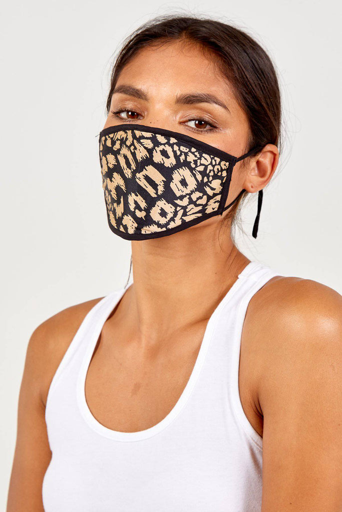 Lucy Reversible Animal Print Fashion Mask-Mask-Mermaid Cove
