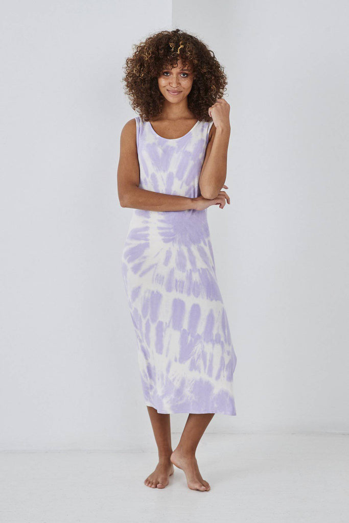 SUNDAE TEE SYLVIA TIE DYE DRESS LILAC-Dresses-Mermaid Cove