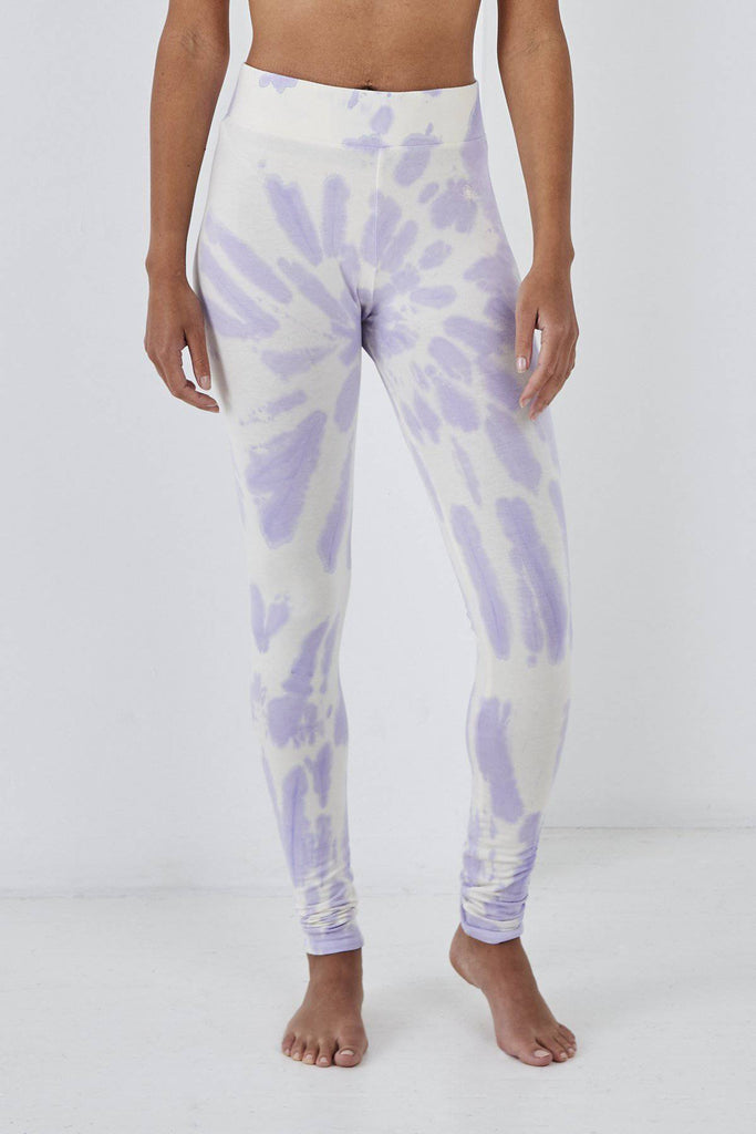 SUNDAE TEE SIENA TIE DYE LEGGINGS LILAC-Leggings-Mermaid Cove