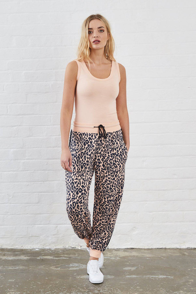 KIMBERLEY ANIMAL PRINT SUNDAE TEE JOGGERS-Loungewear-Mermaid Cove