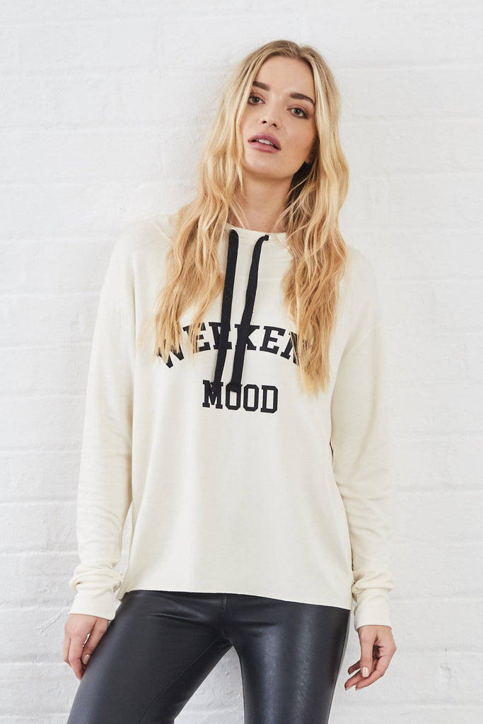 KELIS SUNDAE TEE HOODIE (CREAM)-Loungewear-Mermaid Cove