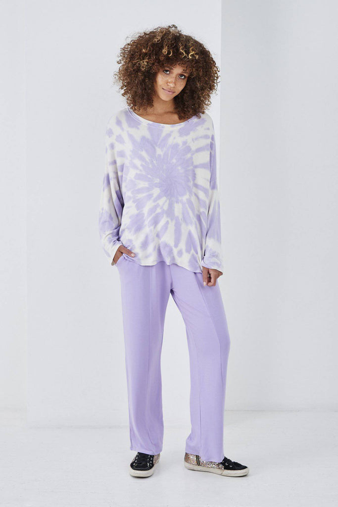 SUNDAE TEE SARA TIE DYE TOP LILAC-Top-Mermaid Cove