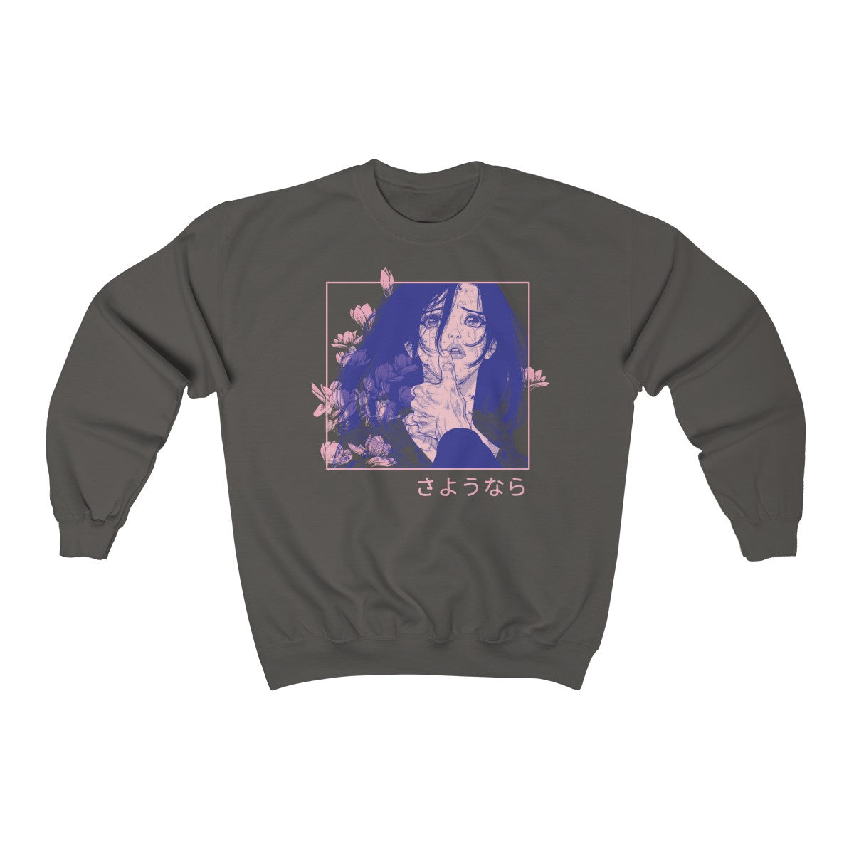 Goodbye – Sad Anime Aesthetic Crewneck Sweatshirt