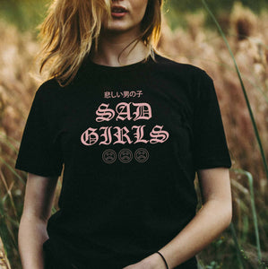 Sad Girls Club/Anime/Cosplay/Streetwear/Custom Tee/Gift for Geeks Nerds/Urban Clothing for Men and Women/Unisex T-Shirt