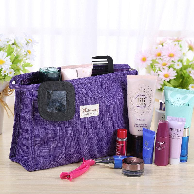 Simple Frosted Cloth Travel Makeup Wash Bag