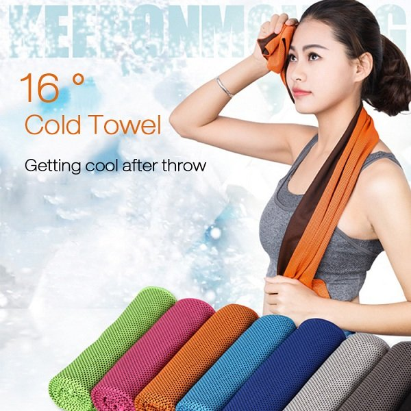 Microfiber Squishy Absorbent Summer Cold Towel Sports Travel Cooling Washcloth