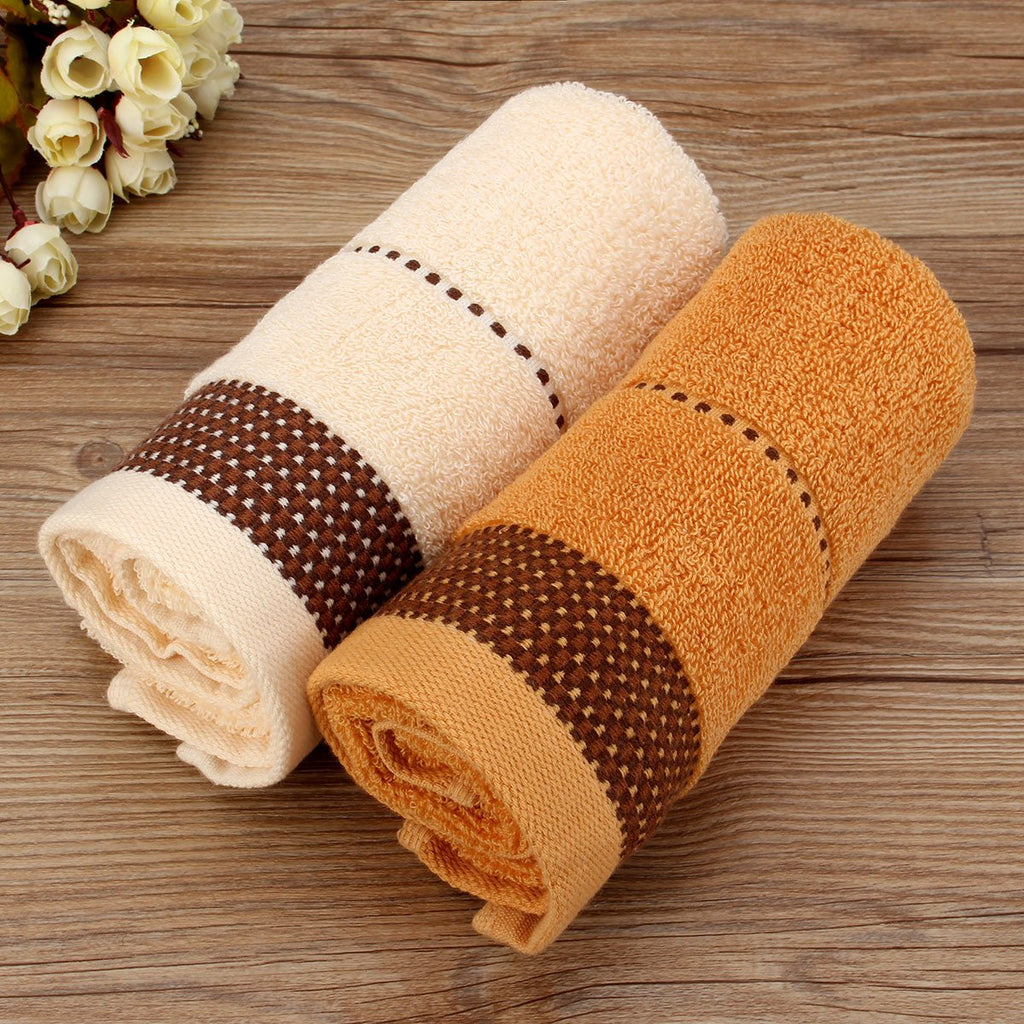 34x70cm Bathroom Absorbent Face Cloth Cotton Towel Shower Washcloth