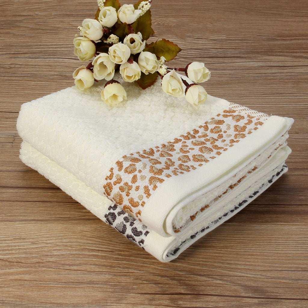 33x74cm Jacquard Cotton Towel Bathroom Absorbent Face Cloth Shower Washcloth