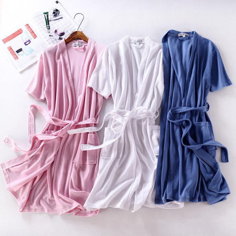 Cotton Bath Towel Bathrobe Super Absorption Quick Drying Sleepwear