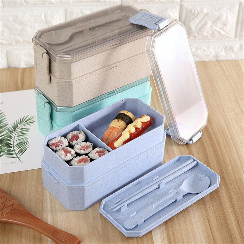 Wheat Straw Lunch Box with Spoons