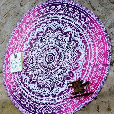 Colorful National Style Round Beach Towel Tapestry Shawl
