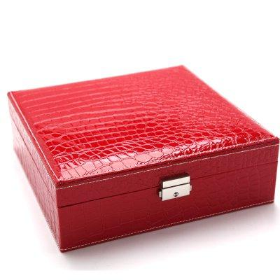 Multi-function Jewelry Storage Box Earrings Organizer Box with Large Mirror