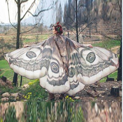 Butterfly Shape Beach Towel Shawl Home Decor