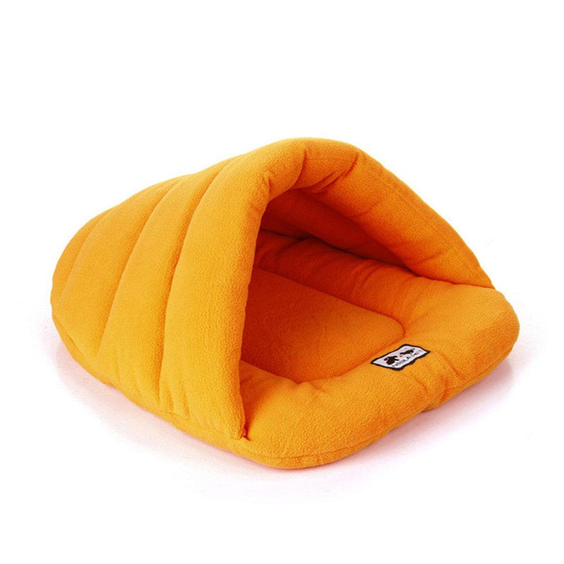 Pet Cat Dog Nest Bed Puppy Soft Warm Cave House Winter Sleeping Bag Mat Pad