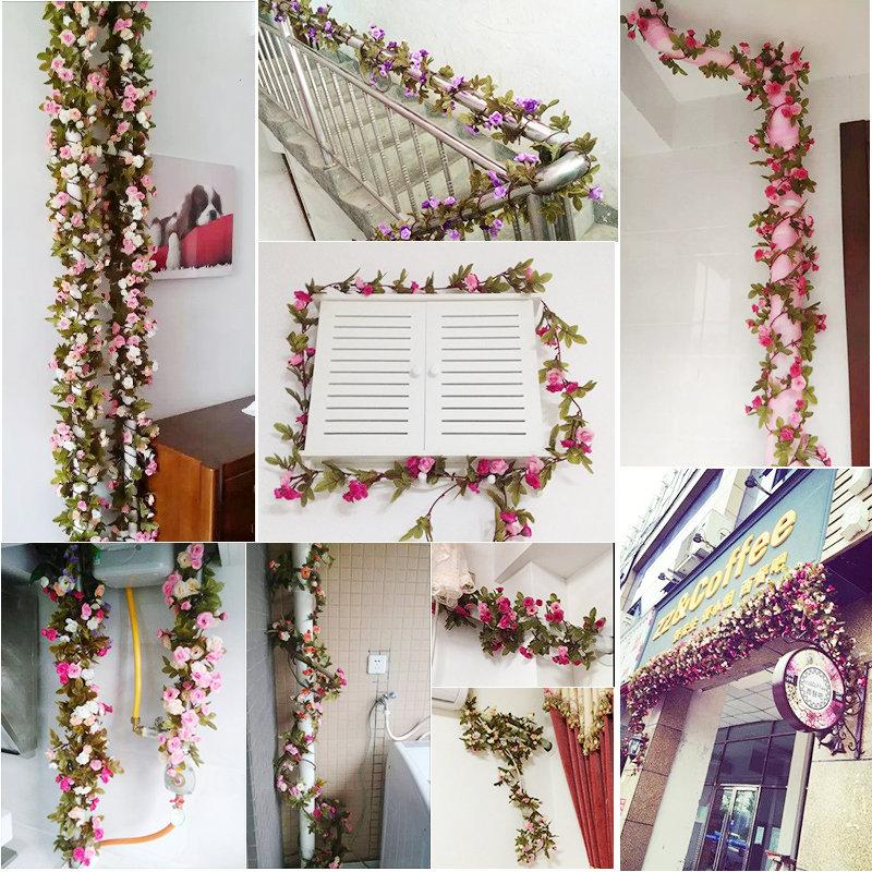 Silk Artificial Flowers Plants Party Wedding Door Stairs Home Decor