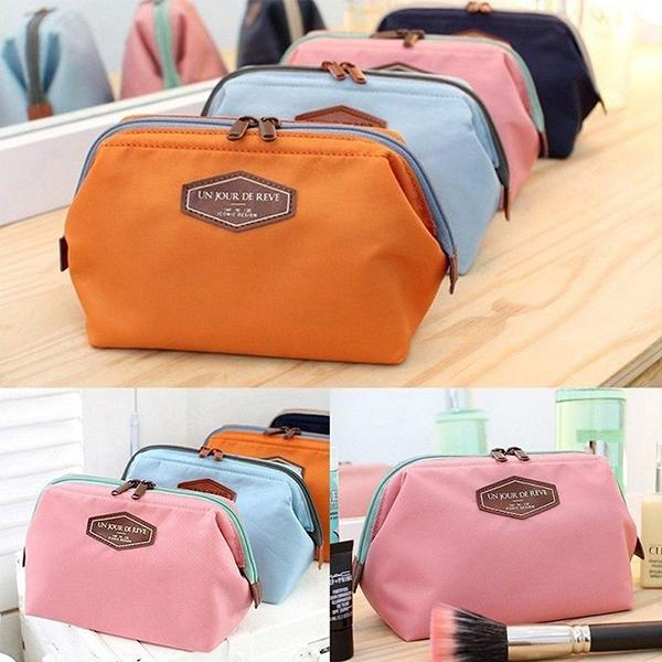 Women Travel Multi-functional Cotton Portable Wash Cosmetic Bag