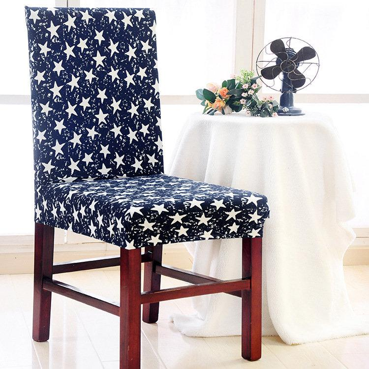 Spandex Elastic Stretch Flowers Chair Seat Cover