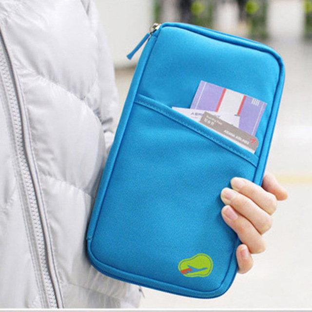 6 Colors Multifunctional Travels Card Ticket Holder Portable Wallet Purse Storage Bag