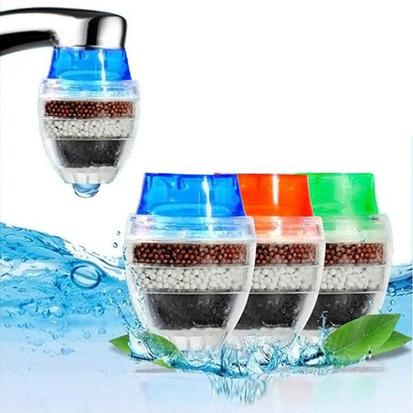 New Round Kitchen Activated Carbon Tap Water Filter Purifier