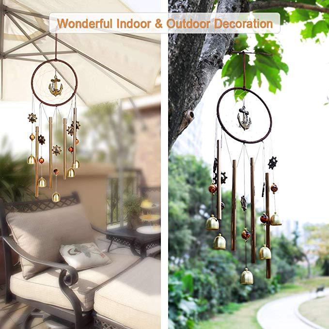 Dream Catcher Metal Pipe Bell Campanula Hanging Decor Heart Home Ornaments Craft Gift