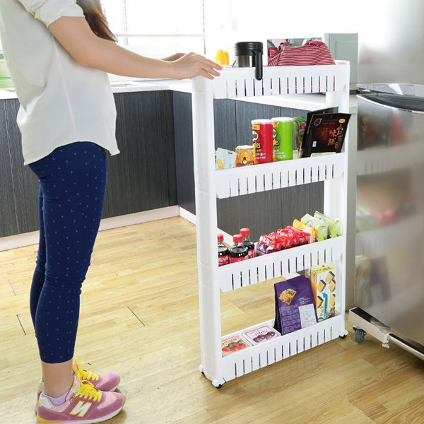 Removable Bathroom Kitchen Storage Shelves Crevice Shelf Household Rack Holder
