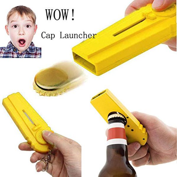 Bottle Opening Flying Cap Launcher