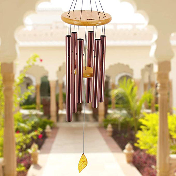 "36"" Memorial Wind Chimes with 6 Metal Tubes Great as a  Gift or to Keep for Your Home Garden Decor"