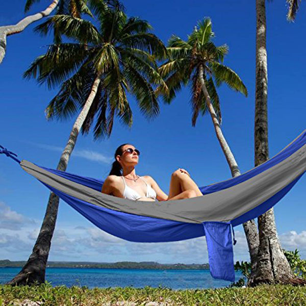 Camping Hammock Portable Indoor Outdoor Tree Parachute Hammocks