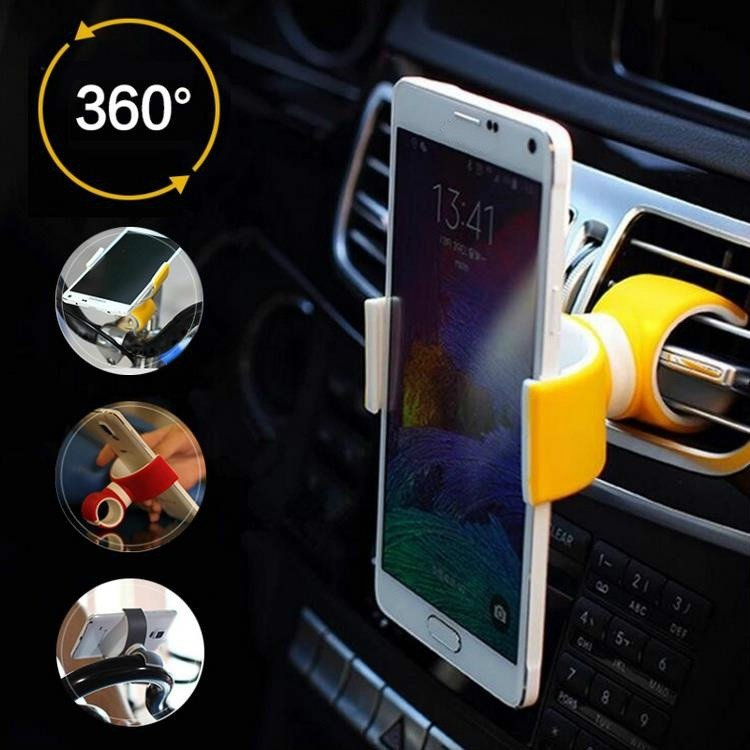 360 Degrees Universal Air Vent Mount Bicycle Car Cell Phone Holder Stands