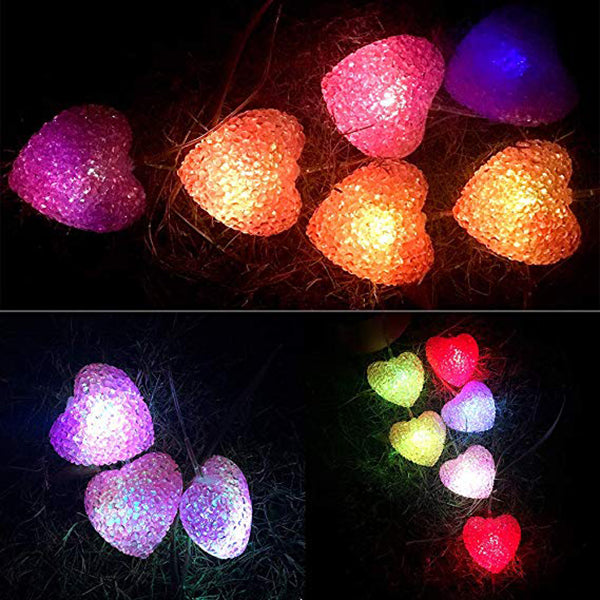 Solar Heart Shaped Wind Chimes LED Light Garden Home Outdoor Color Changing Lights